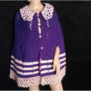 Vintage Crochet Cape Poncho